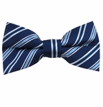 Regal Stripe Bow Tie (Men's & Boys Styles)
