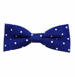 Royal & White Urban Dotted Bow Tie (Men's & Boy's Styles Available)