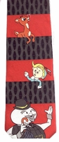 Rudolph Stripe Christmas Neckties