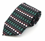 Santa & Christmas Tree Stripe Tie (Various Sizes Available for Men & Boys)