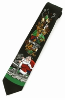 Santa's Office Party Ties / Black