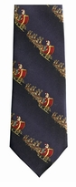Santa's Ride Stripe Christmas Ties / Navy