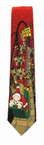 Santa's Rollercoaster Adventure Tie / Deep Red