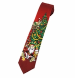 Santa Takes a Fall Tie / Red