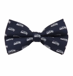Seattle Seahawks Banded Bow Tie
