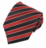 Sleek Black & Red Stripe Tie #10 (Available in Mens & Boys)