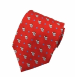 Small  Santa Face Tie / Red