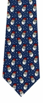 Smiling Santa Faces Tie