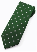 Snowflake Magic Tie in Green