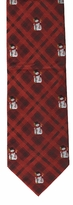 Snowman Plaid Ties / Red