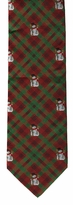 Snowman Plaid Ties / Red & Green