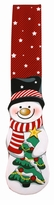 Snowman Shaped Christmas Tie