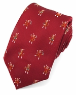 Sock Monkey Christmas Tie