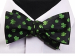 St Patrick Day Clover Tie Yourself Bowtie