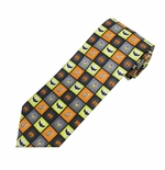 Spooky Halloween Squares Tie (Styles for Men & Boys)