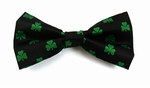 St Patrick's Day Shamrock Band Bowties / Black