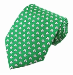 St. Patrick's Day Shamrock Pattern Tie / Green