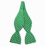 St. Patrick's Day Shamrock Tie Yourself Bow Tie / Green