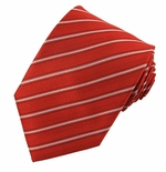 Stunning Red Stripe Tie #9 (Available in Mens & Boys)