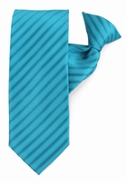Teal & Black Stripe Clip On Tie