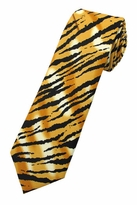 Tiger Print X-Long Tie