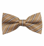 Vegas Gold Stripe Bow Tie (Men's & Boys Styles)