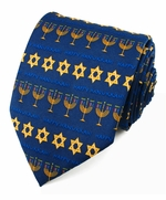 X-Long Happy Hanukaah Stripe Tie