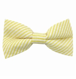 Yellow Seersucker Bow Ties / Men's & Boy's