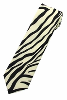 Zebra Print Tie (Various Sizes for Men & Boys)
