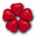 Thompson Red Milk Chocolate Hearts 5 lbs
