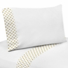 3 pc Gold and White Polka Dot Twin Sheet Set for Amelia Bedding Collection