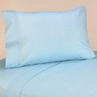 3 pc Twin Sheet Set for Blue and Brown Mod Dots Bedding Collection