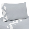 3 pc Twin Sheet Set for Gray and White Chevron Bedding Collection