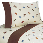 3 pc Twin Sheet Set for Jungle Time Bedding Collection