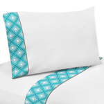 3 pc Twin Sheet Set for Mod Elephant Bedding Collection by Sweet Jojo Designs