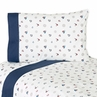 4 pc Queen Sheet Set for Nautical Nights Sailboat Bedding Collection