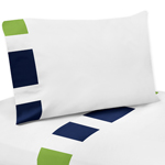 JoJo Designs 4 pc Queen Sheet Set for Navy Blue and Lime ...