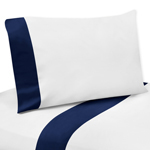 3 pc Twin Sheet Set for Navy, Mint and Grey Woodsy Bedding Collection by Sweet Jojo Designs