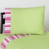 4 pc Queen Sheet Set for Olivia Pink and Green Bedding Collection