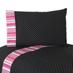 3 pc Twin Sheet Set for Pink and Black Madison Bedding Collection