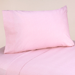3 pc Twin Sheet Set for Pink and Brown Mod Dots Bedding Collection