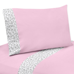 3 pc Twin Sheet Set for Pink and Gray Kenya Bedding Collection