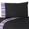 4 pc Queen Sheet Set for Purple and Black Kaylee Bedding Collection by Sweet Jojo Designs