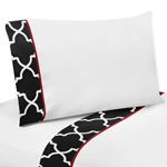 JoJo Designs 3 pc Twin Sheet Set for Red and Black Trelli...