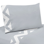 JoJo Designs 3 pc Twin Sheet Set for Gray and White Chevr...