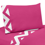 JoJo Designs 3 pc Twin Sheet Set for Hot Pink and White C...