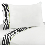 3 pc Twin Sheet Set for Lime Funky Zebra Bedding Collection