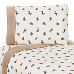 3 pc Twin Sheet Set for Monkey Bedding Collection