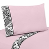 4 pc Queen Sheet Set for Pink and Black Sophia Bedding Collection