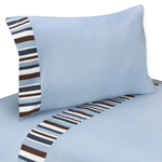 3 pc Twin Sheet Set for Starry Night Stars and Moons Collection